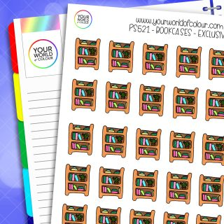 Bookcase Planner Stickers