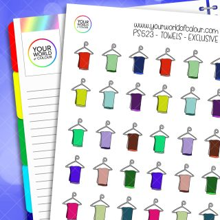 Towels Planner Stickers
