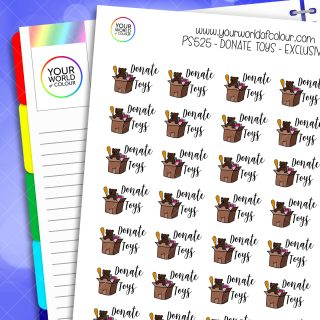 Donate Toys Planner Stickers