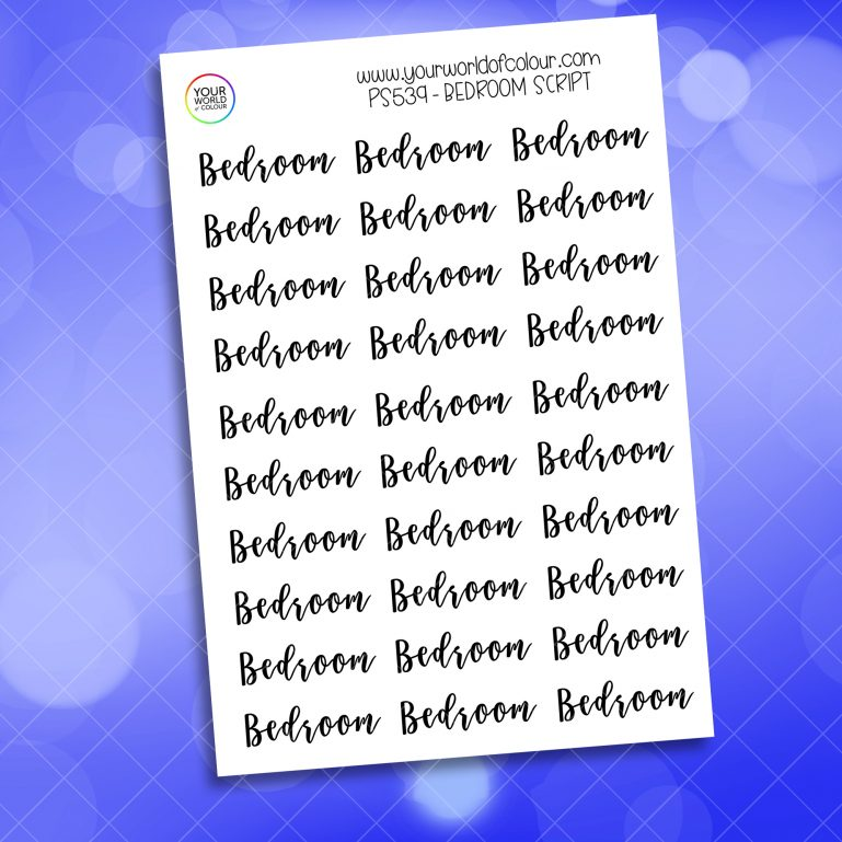 Bedroom Script Planner Sticker