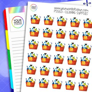 Cleaning Supplies Planner Stickers