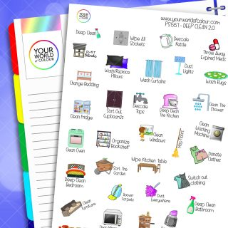 Deep Clean Planner Stickers 2.0