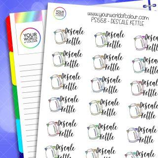 Descale Kettle Planner Stickers