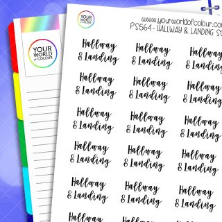 Hallway & Landing Script Planner Stickers