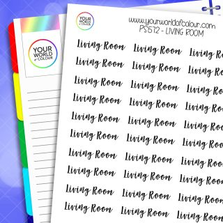 Living Room Script Planner Stickers