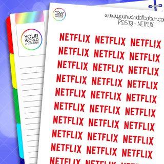 Netflix Planner Stickers