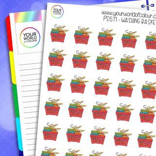 Washing Basket Planner Stickers