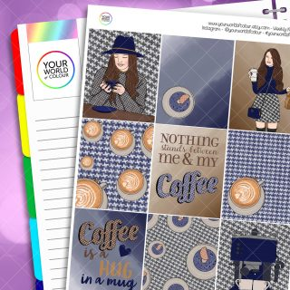 Coffee Girl Erin Condren Weekly Planner Sticker Kit