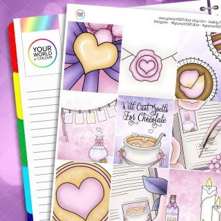 Magical Love Erin Condren Weekly Planner Sticker Kit