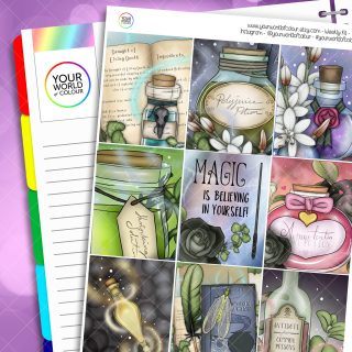 Potions Class Erin Condren Weekly Planner Sticker Kit