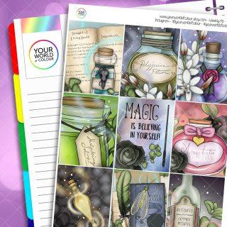 Potions Class Erin Condren Weekly Planner Sticker Kit