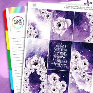 Soft Heart Erin Condren Weekly Planner Sticker Kit