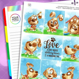 A Dog's Life Erin Condren Weekly Planner Sticker Kit