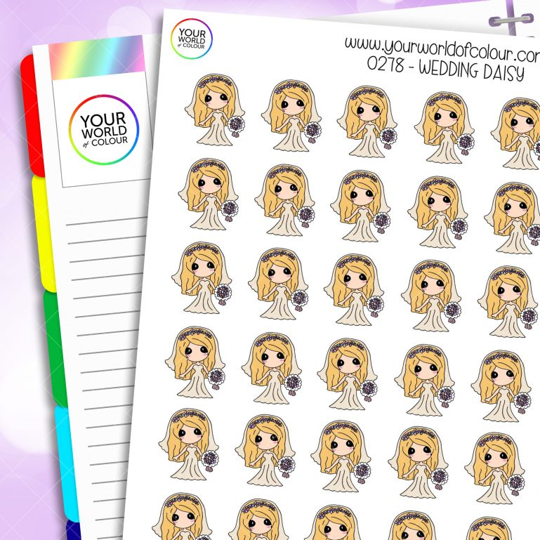 Wedding Daisy Character Stickers