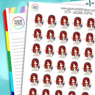 Wedding Poppy Planner Stickers