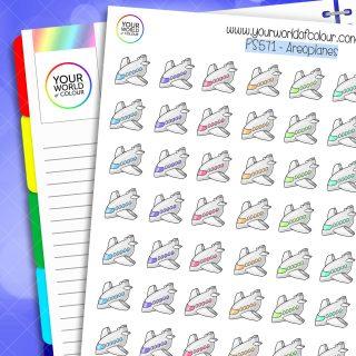 Areoplane Planner Sticker