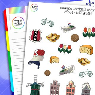 Amsterdam Planner Stickers