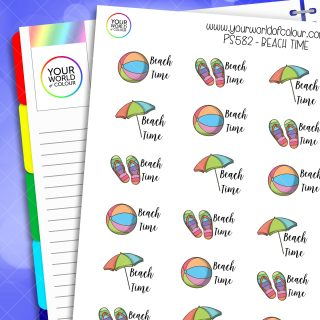 Beach Time Planner Stickers