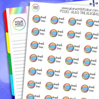 Beach Time Beach Ball Planner Stickers