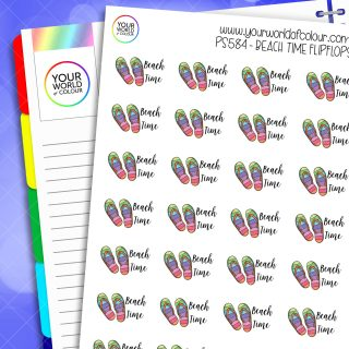 Beach Time Flipflop Planner Stickers