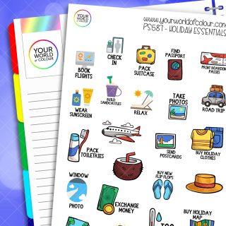 Holiday Essentials Planner Stickers