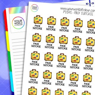 Pack Suitcase Planner Stickers