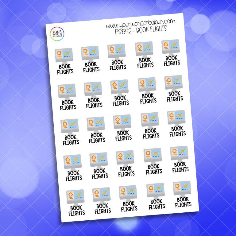 Book Flights Planner Sticker