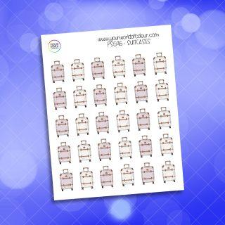 Suitcase Planner Sticker