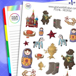 Moscow Planner Stickers