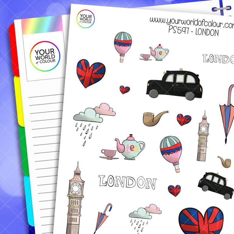 London Planner Stickers