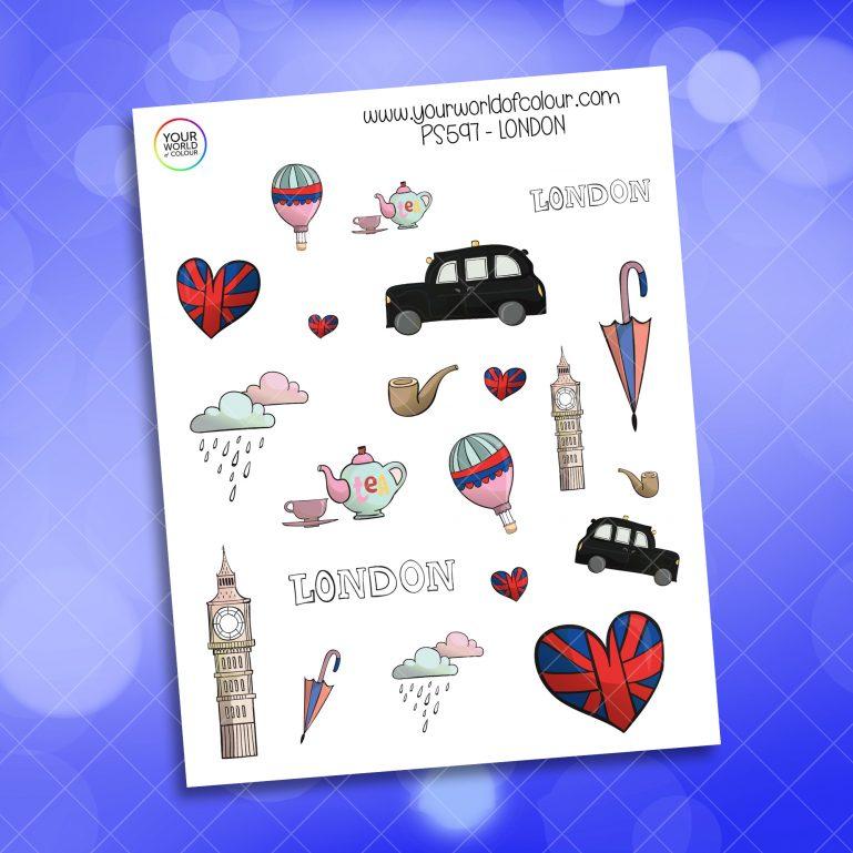 London Planner Sticker