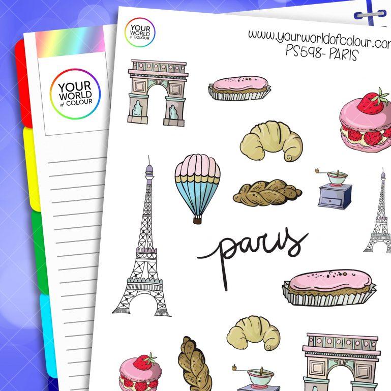 Paris Planner Stickers