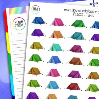 Tent Planner Stickers
