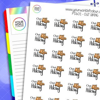 Out Hiking Planner Stickers