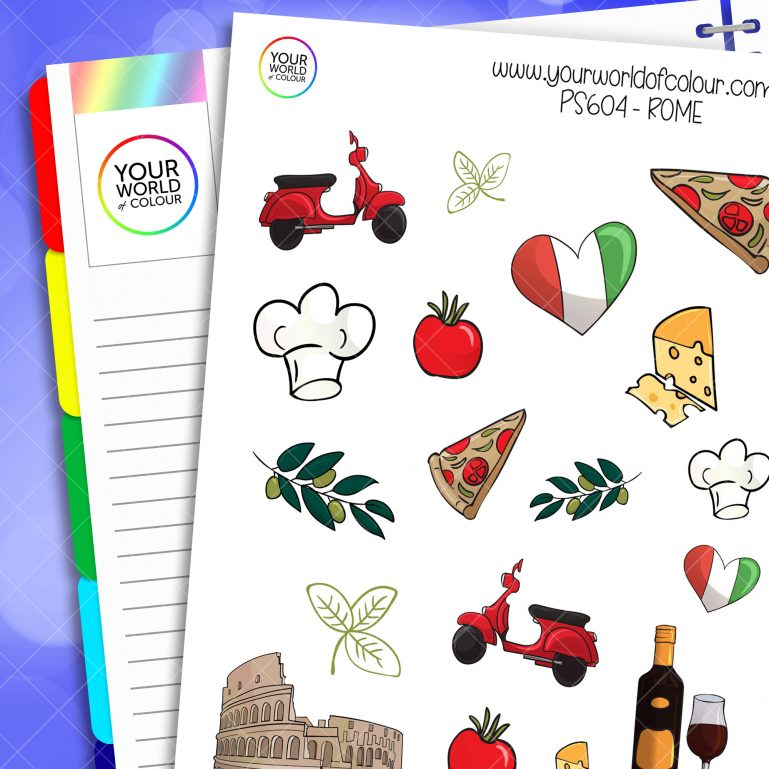 Rome Planner Stickers