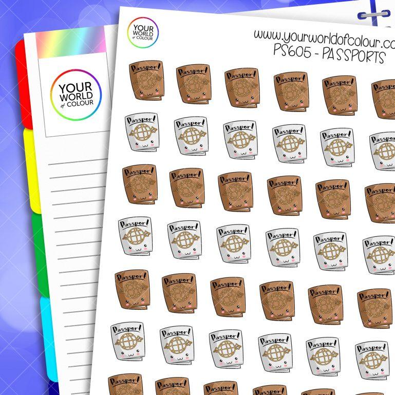 Passport Planner Stickers