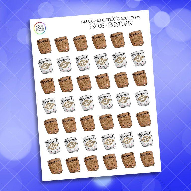 Passport Planner Sticker