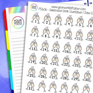 Celebration Drink Countdown Planner Stickers