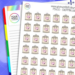 Shopping Bag Planner Stickers