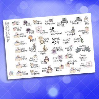 Wedding Checklist Planner Sticker
