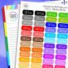 Rainbow Bill Due Planner Stickers