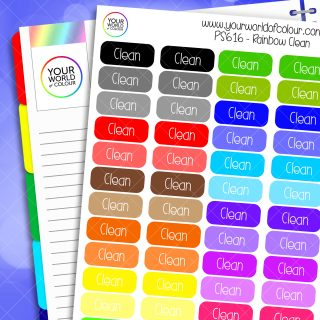 Rainbow Clean Planner Stickers