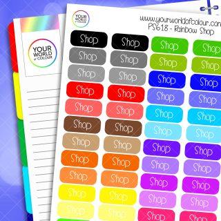 Rainbow Shop Planner Stickers