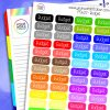 Rainbow Budget Planner Stickers