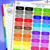 Rainbow Plan Planner Stickers