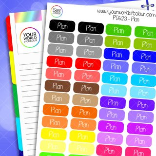 Rainbow Plan Planner Stickers