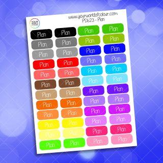 Rainbow Plan Planner Sticker