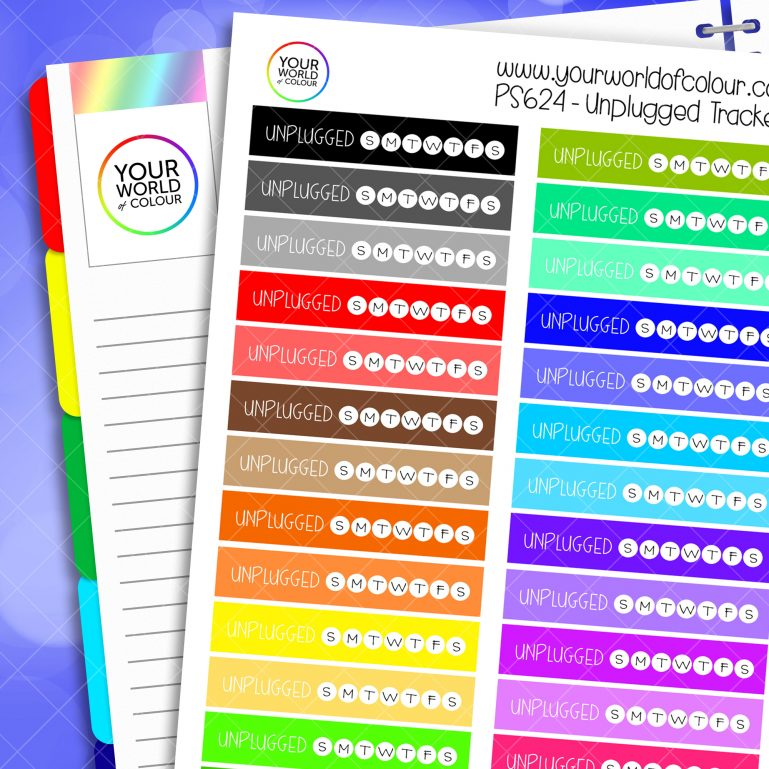 Unplugged Tracker Planner Stickers