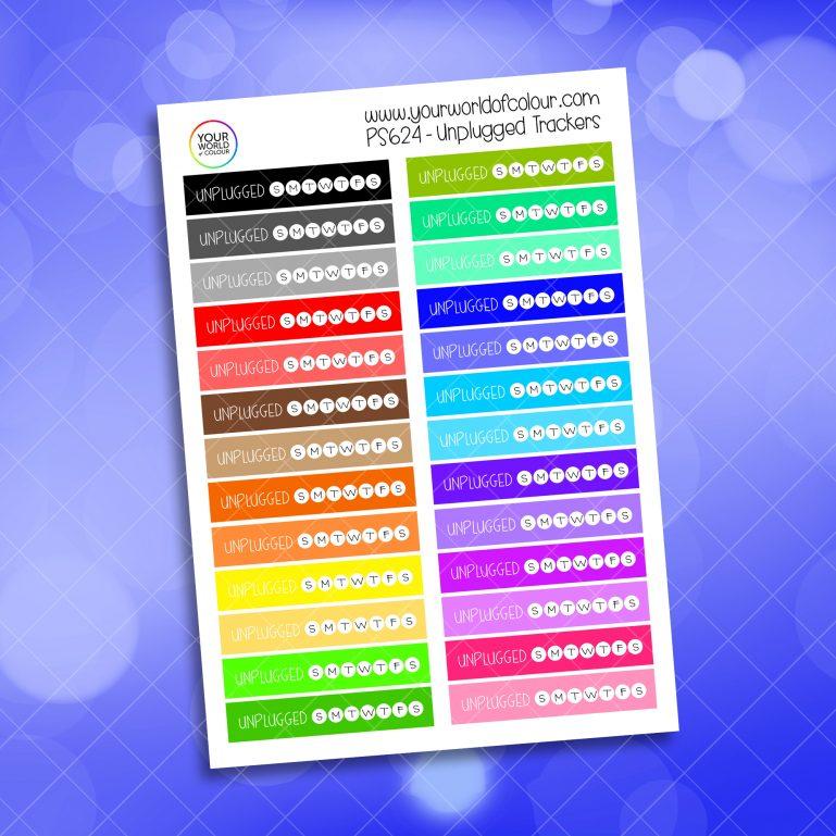 Unplugged Tracker Planner Sticker