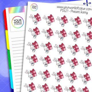 Present Bunny Planner Stickers